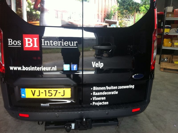 Autobelettering Bos Interieur 2
