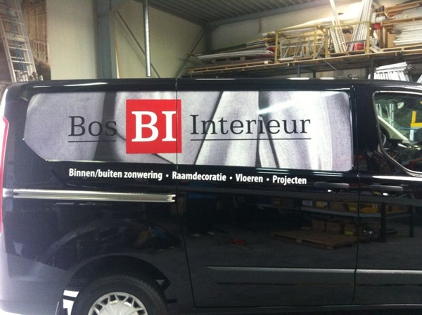 autobelettering Bos Interieur